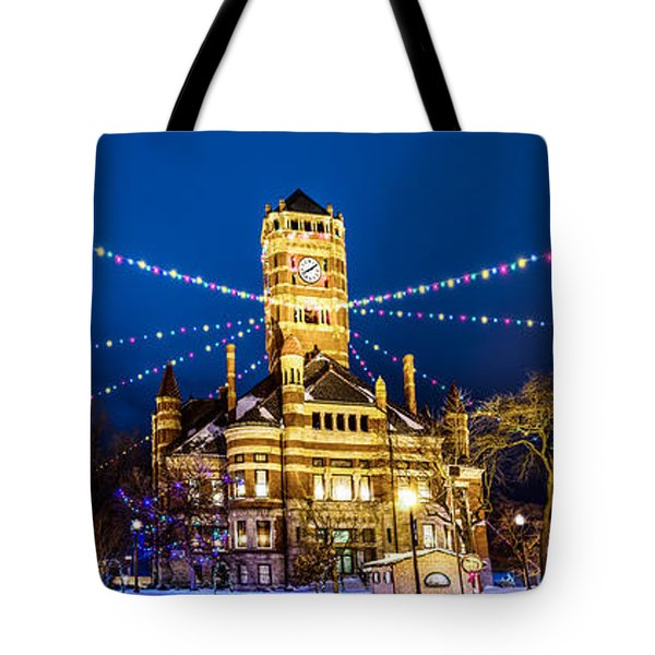 Tote Bag featuring the photograph Christmas On The Square by Michael Arend