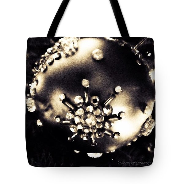 Christmas Ornament In Black And White Tote Bag