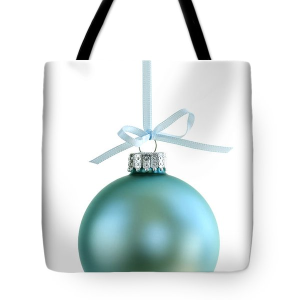 Christmas Ornament On White Tote Bag by Elena Elisseeva