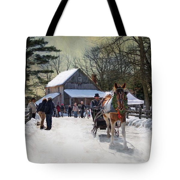 Christmas Paint Tote Bag by Robin-Lee Vieira
