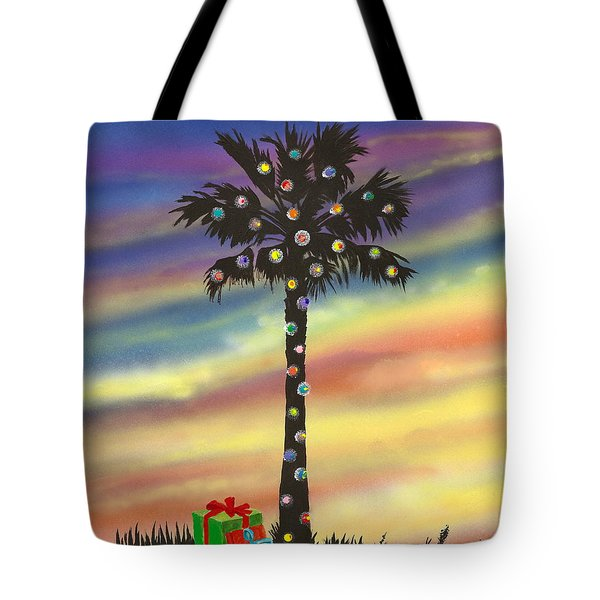 Tote Bag featuring the painting San Clemente Christmas by Mary Scott