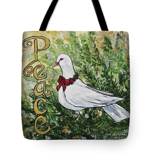 Christmas Peace Dove Tote Bag