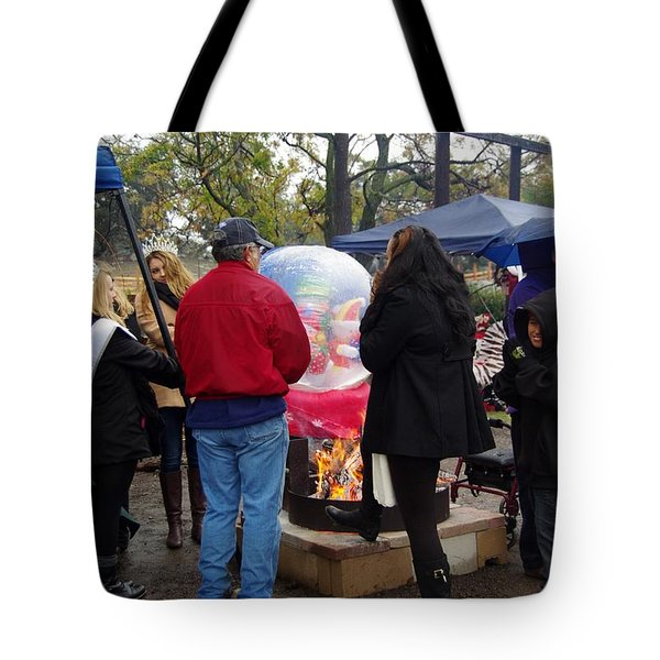 Christmas People Cold And Muddy Tote Bag