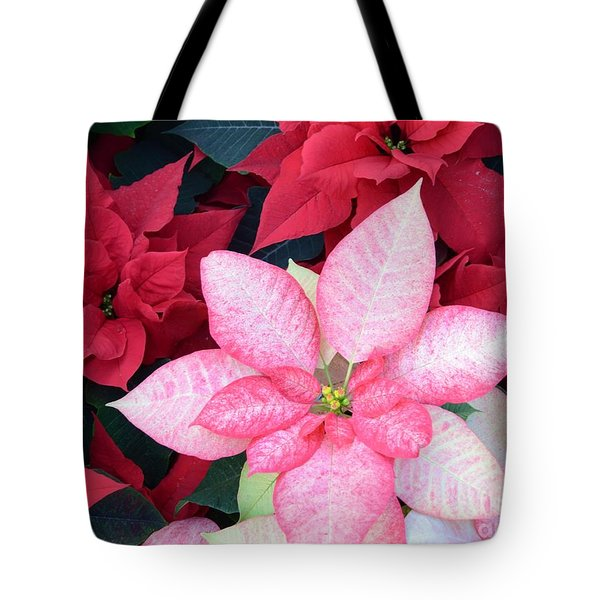 Christmas Pointsettia Tote Bag by Kathleen Struckle