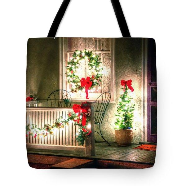 Christmas Porch Tote Bag