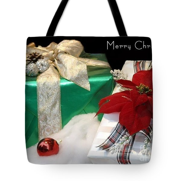 Christmas Presents Tote Bag by Living Color Photography Lorraine Lynch