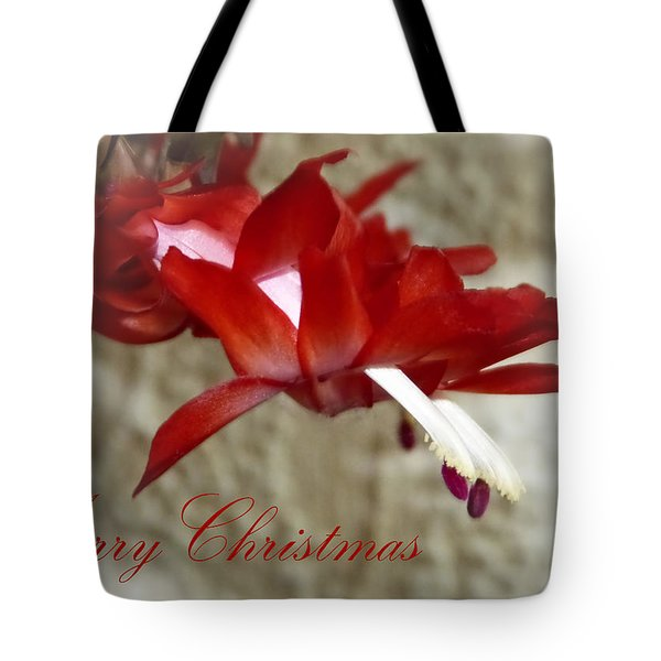 Christmas Red Beauty Card Tote Bag