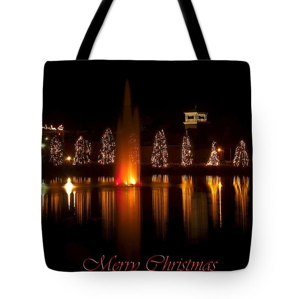 Christmas Reflection - Christmas Card Tote Bag