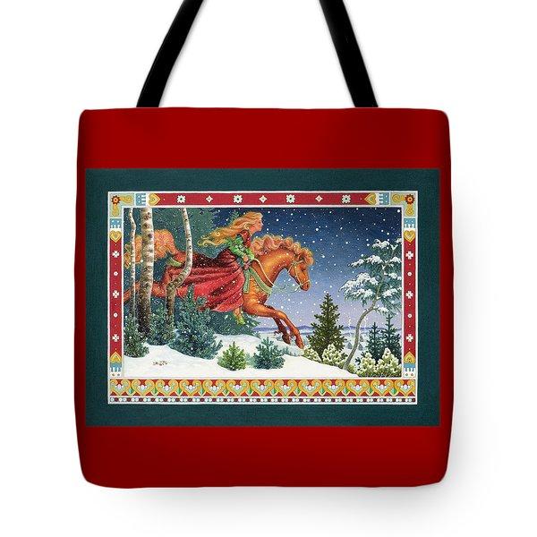 Christmas Ride Tote Bag