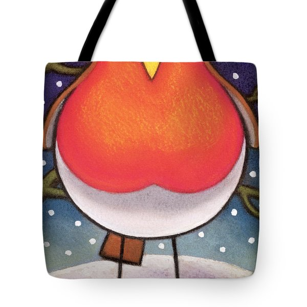Christmas Robin Tote Bag by Cathy Baxter