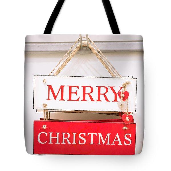 Christmas Sign Tote Bag