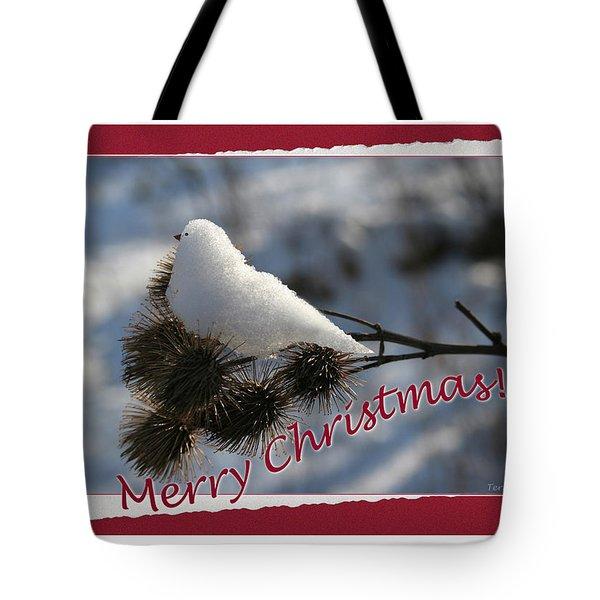 Christmas Snow Bird Tote Bag