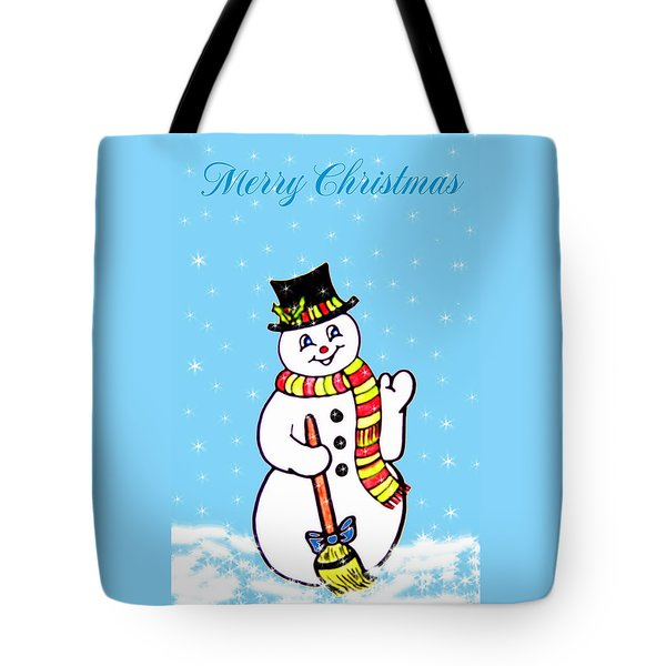 Christmas Snowman Tote Bag