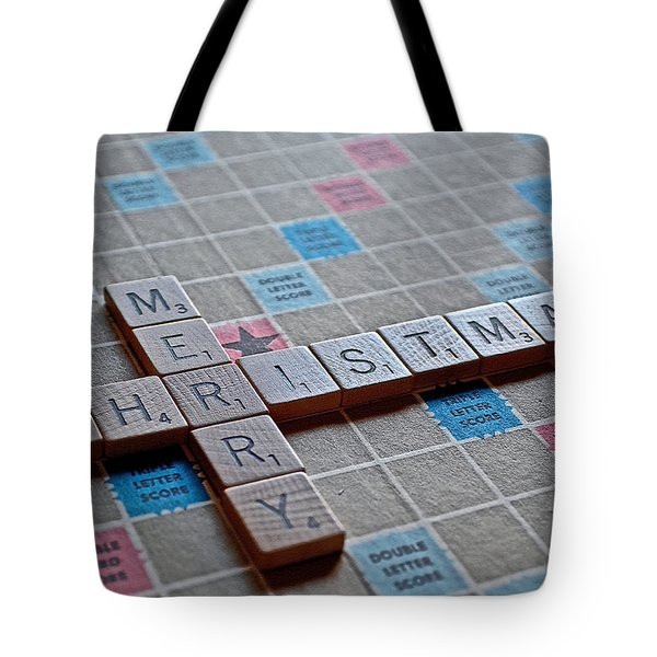 Christmas Spelled Out Tote Bag by Bill Owen