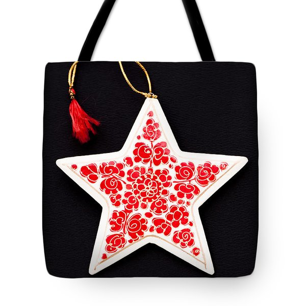Christmas Star Tote Bag by Anne Gilbert