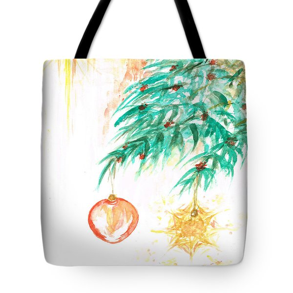 Tote Bag featuring the painting Christmas Star by Teresa White