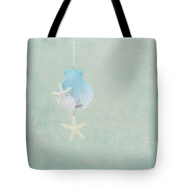 Christmas Starfish Tote Bag by Kim Hojnacki