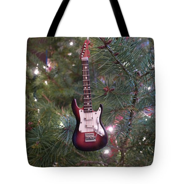 Christmas Stratocaster Tote Bag by Richard Reeve