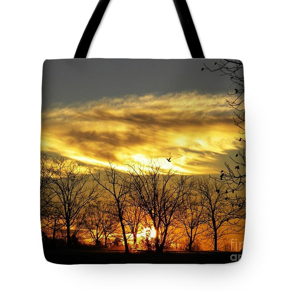 Christmas Sunrise Tote Bag