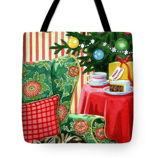 Christmas Tea Tote Bag by Lavinia Hamer