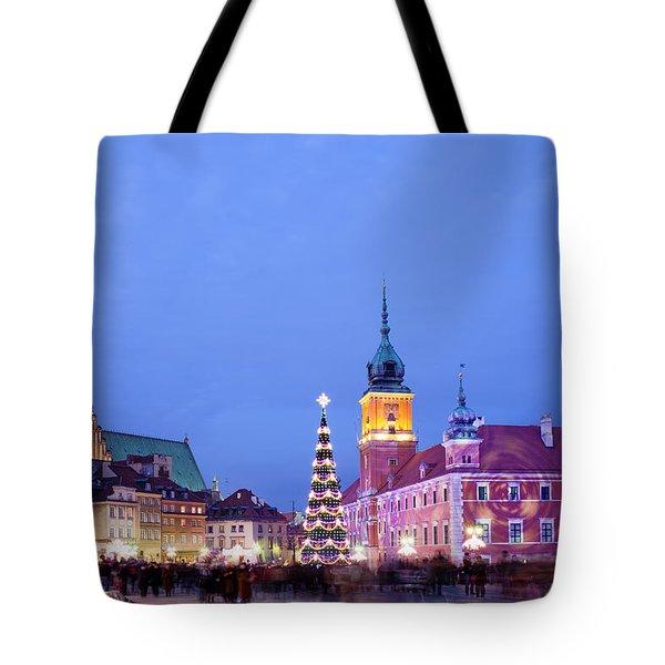 Christmas Time In Warsaw Tote Bag by Artur Bogacki