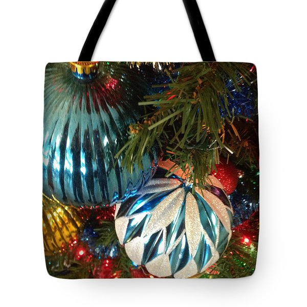 Christmas Time Tote Bag by Janet Felts