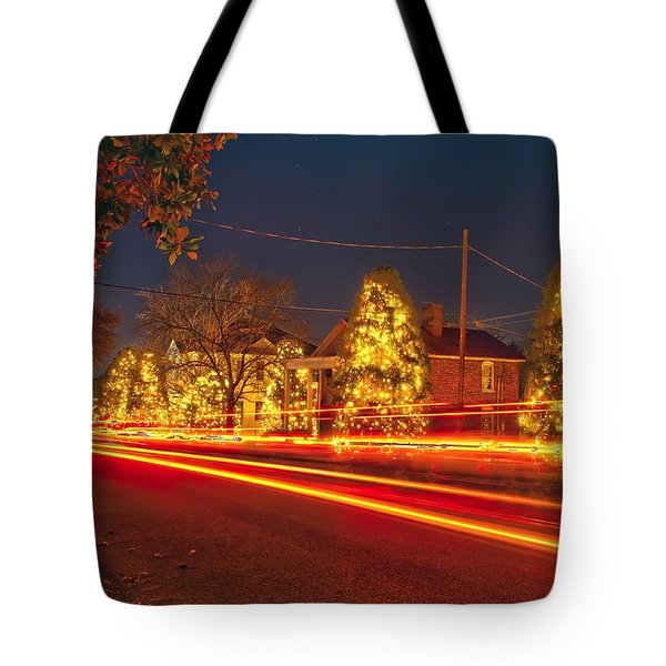 Tote Bag featuring the photograph Christmas Town Usa by Alex Grichenko