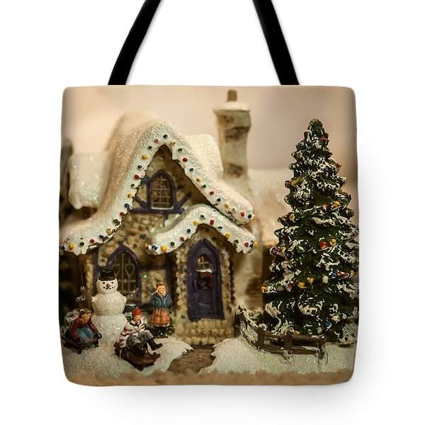 Tote Bag featuring the photograph Christmas Toy Village by Alex Grichenko