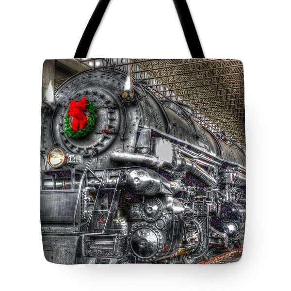 Christmas Train-the Holiday Station Tote Bag by Dan Stone