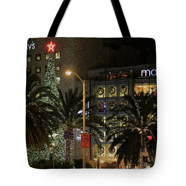 Christmas Tree At Union Square Tote Bag