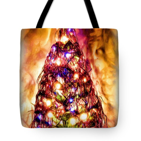 Tote Bag featuring the digital art Christmas Tree by Daniel Janda