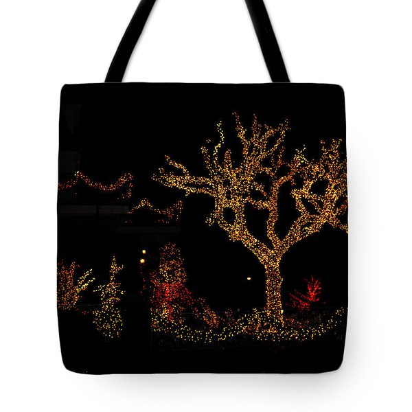 Christmas Tree Tote Bag by Diane Lent