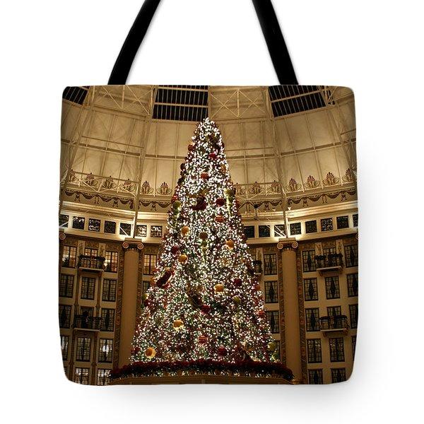 Christmas Tree Tote Bag by Sandy Keeton