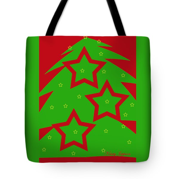 Christmas Tree Stars Tote Bag
