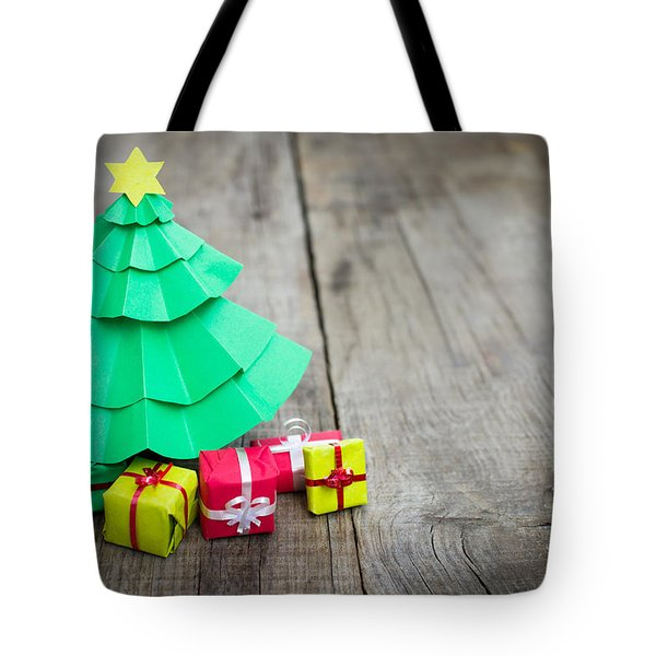 Christmas Tree With Presents Tote Bag
