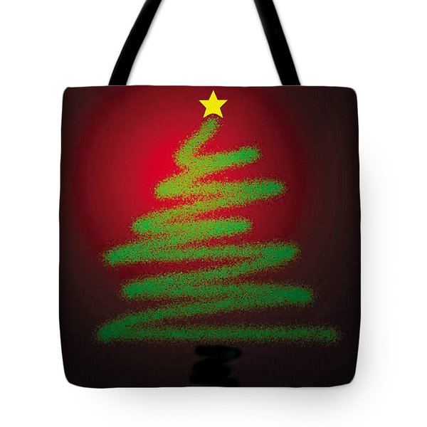 Christmas Tree With Star Tote Bag by Genevieve Esson