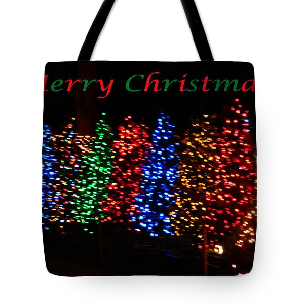 Christmas Trees Dancing In The Night Tote Bag