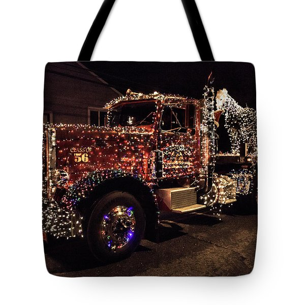 Christmas Truck Tote Bag