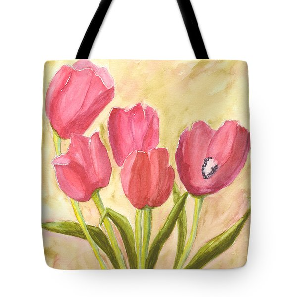 Tulip Time Tote Bag by Mickey Krause