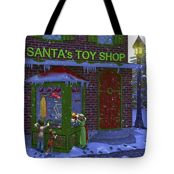 Christmas Window Shopping Tote Bag by Ken Morris