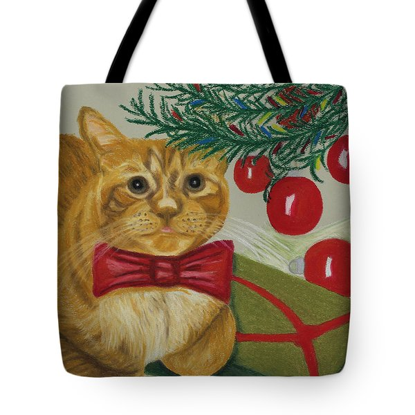 Christmas With Rufus Tote Bag