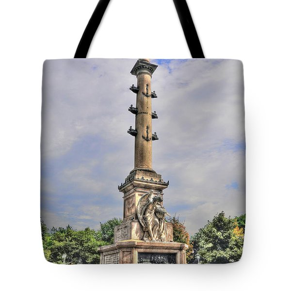 Christopher Columbus Monument At Columbus Circle In Manhattan Tote Bag by Randy Aveille