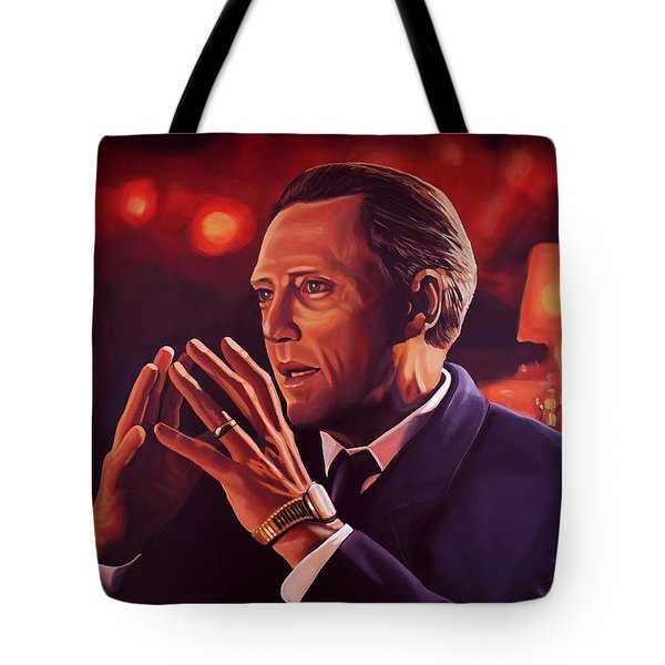 Christopher Walken Painting Tote Bag