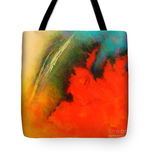 Fantasies In Space Series Painting. Chromatic Vibrations Tote Bag
