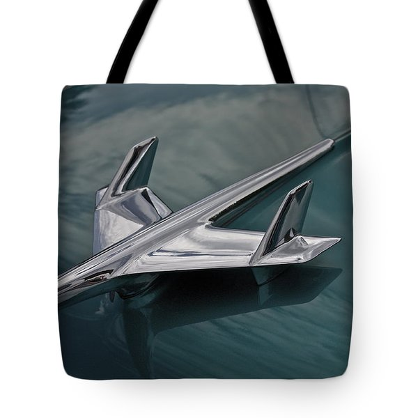 Chrome Airplane Hood Ornament Tote Bag by Linda Bianic