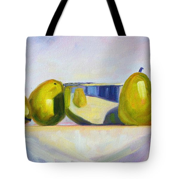 Chrome And Pears Tote Bag