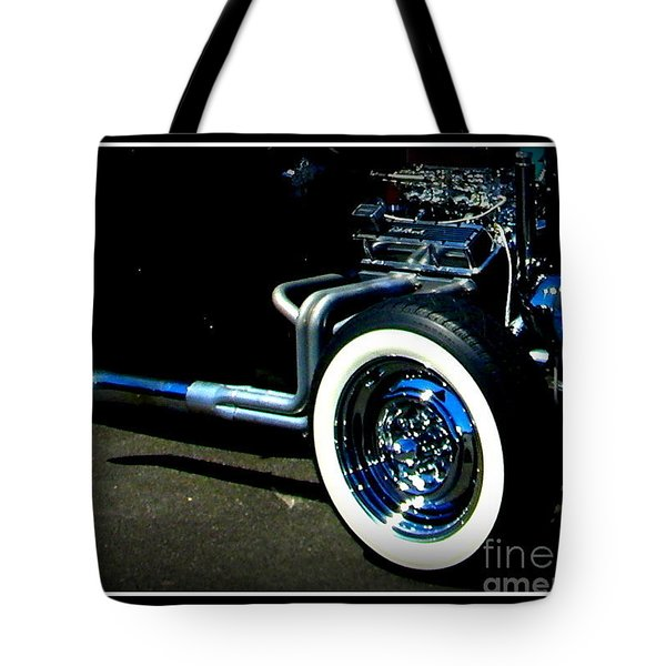 Tote Bag featuring the photograph Chrome  by Bobbee Rickard
