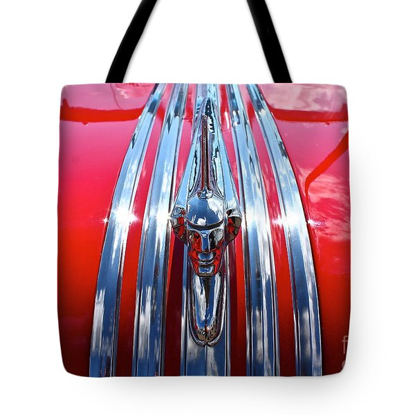 Tote Bag featuring the photograph Chrome Chief by Linda Bianic