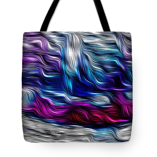 Chrome Waves Tote Bag by Bill Kesler