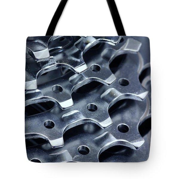 Chromed Shiny Gear Shift Tote Bag